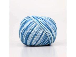 příze Jeans color 9102 variace modré a smetanové