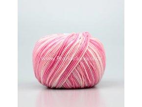 příze Jeans color 9004 variace růžové a smetanové