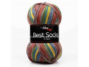 příze Best Socks 7307 kaštanová, šedá, hořčicová, hnědá
