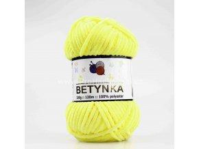 příze Betynka 302 světle  žlutá