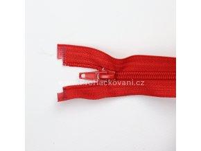 Spirálový zip dělitelný 80 cm červený