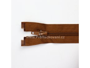 Spirálový zip dělitelný 80 cm hnědý