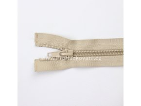 Spirálový zip dělitelný 80 cm kapučíno