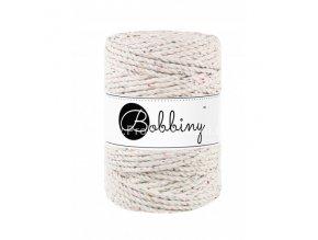 Bobbiny 3PLY Macrame Rope XXL Natural s barevnými nopky