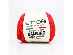 příze Bambino Baby Cotton 70307 červená