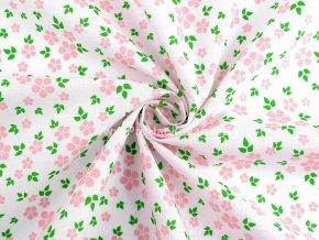 latka ruzove kvety se zelenymi listky