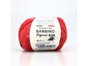 příze Bambino Baby Cotton 70306 jahodově červená