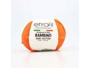 příze Bambino Baby Cotton 70208 oranžová