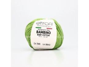 příze Bambino Baby Cotton 70405 jarní zelená