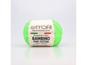 příze Bambino Baby Cotton 70404 neon zelená