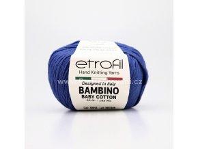 příze Bambino Baby Cotton 70515 královská modrá