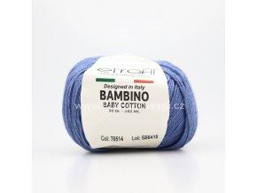 příze Bambino Baby Cotton 70514 modrá