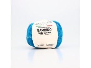 příze Bambino Baby Cotton 70512 tmavě azurová