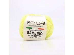 příze Bambino Baby Cotton 70205 světle žlutá