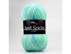 příze Best Socks 7325 mentolová, tyrkysová