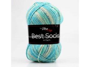 příze Best Socks 7321 béžová, tyrkysová