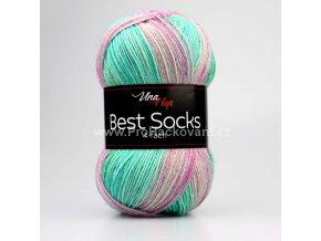 příze Best Socks 7326 mentolová, fialková