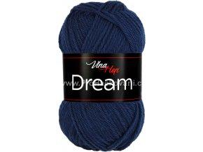 příze Dream 6409 tmavě modrá