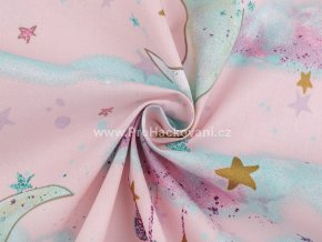 bavlnena latka mracky a mesice na ruzove (2)