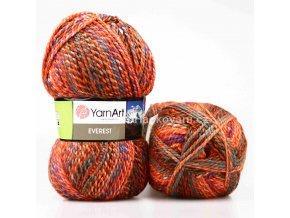 příze Everest 7047 Oranžová, modrá, tyrkysová