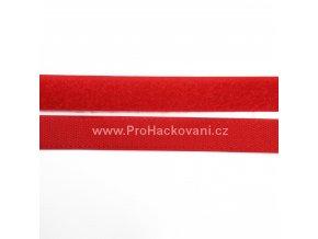 Suchý zip, 20 mm, komplet červená