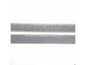 Suchý zip, 20 mm, komplet světle šedý