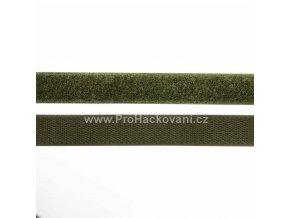 Suchý zip, 20 mm, komplet khaki