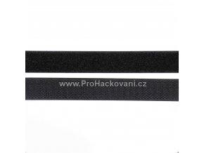 Suchý zip, 20 mm, komplet černá