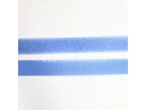 Suchý zip, 20 mm, komplet světle modrá