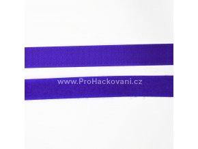 Suchý zip, 20 mm, komplet tmavší modrá