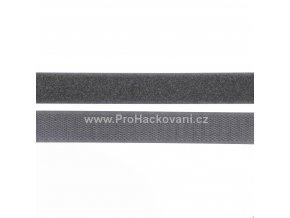 Suchý zip, 20 mm, komplet antracit