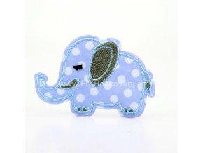 Nažehlovací aplikace sloník modrý