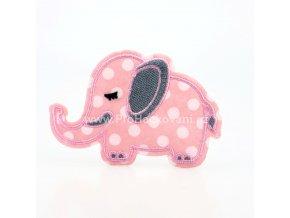 Nažehlovací aplikace sloník růžový