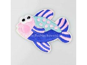 Nažehlovací aplikace ryba růžová - modrá