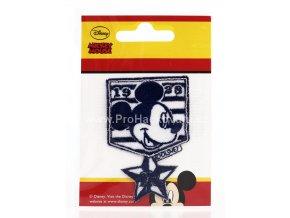 Nažehlovací aplikace odznak - hlava Mickey