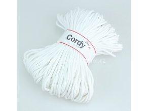 šňůry Cordy 5 mm bílé