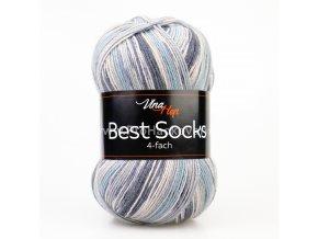 příze Best Socks 7306 šedomodrá, šedá, antracitová
