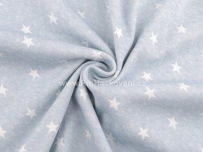uplet svetle modry melir s hvezdickami