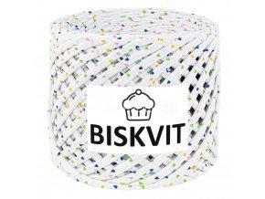 špagáty Biskvit  2845 bílé s trojúhelníčky (Marshmallow)