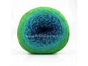 příze Floxy 9918/II tmavě modrá, tyrkysová, zelená
