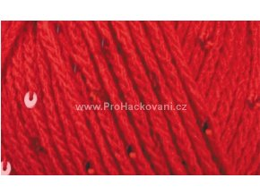 příze Buket 20306 červená s flitry
