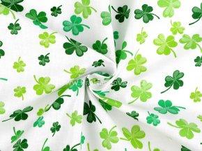 bavlnena latka zelene trojlistky 1