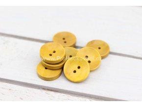 Dřevěný knoflík kulatý Ø 20 mm žlutý