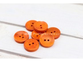 Dřevěný knoflík kulatý Ø 20 mm oranžový
