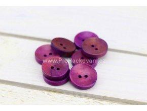 Dřevěný knoflík kulatý Ø 20 mm fialový