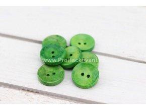 Dřevěný knoflík kulatý Ø 20 mm zelený