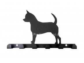 Kovový věšák černý - pes menší
