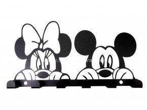 Kovový věšák černý - myšáci