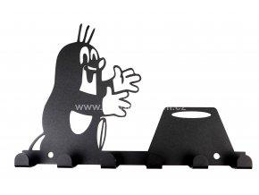 Kovový věšák černý - postavička zvířátka
