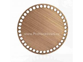 Dno na košík dekor meranti kruh průměr 20 cm